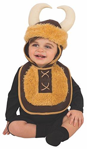 Rubies - Disfraz Babero con sombrero de vikingo, para bebé 6-12 meses