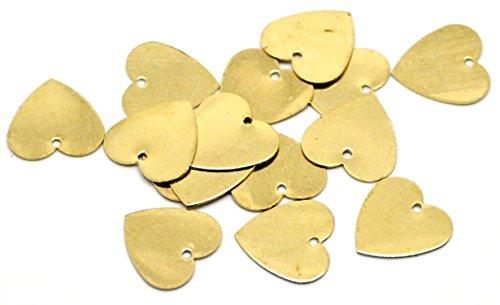 old love hearts Metall blank-Tags. 13mm x 13mm. Schmuck Anhängern/Charms/Scheiben für Gravur & Personalisieren ()