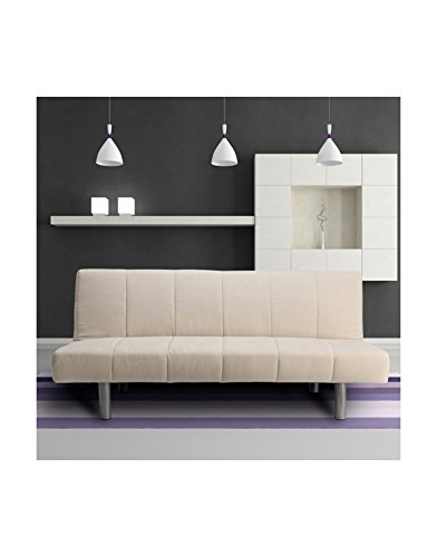 FabHomeDecor Three Seater Sofa (Cream)