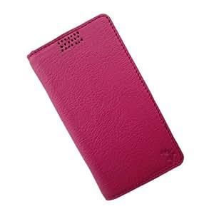i-KitPit Genuine Leather Flip Case For Nokia Asha 501 (PINK)