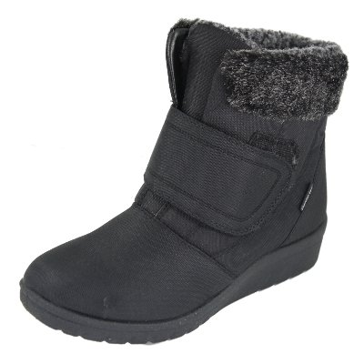 Cushion Walk thermo-tex Womens Comfort stivali invernali - CW81 marrone, nero (Black), 3 UK