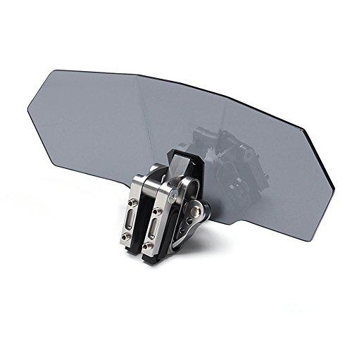 Preisvergleich Produktbild ROKOO Universal Motorrad Windschutzscheibe Verstellbar Wechselrahmen Verlängerung Spoiler Windschutzscheibe