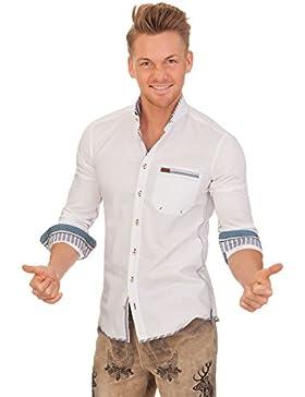 Trachtenhemd mit langem Arm - ENZO - blau
