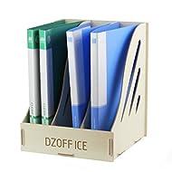 gossipboy Abnehmbare Holz Getreide Design Schreibtisch A4Datei Rack Desktop DIY Organizer Ablage Magazin Book Aufbewahrungsbox Fall Halter Dokument Tablett weiß