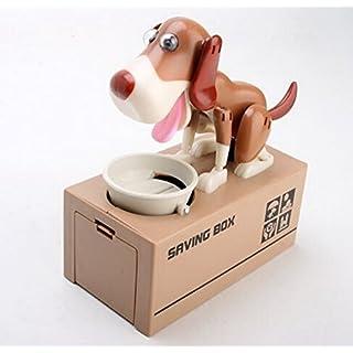 ANKKO Lustiger Hund Stehlen Münze Geld Bank Münze Geld Box Sparschwein Spardose, Braun und Weiß