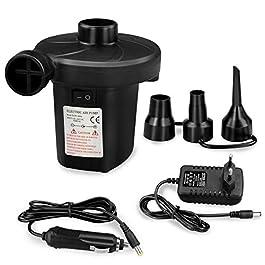 Zaeel Pompa Elettrica, Pompa Elettrica per Materasso Gonfiabile[DC12V/AC240V] con 3 Ugelli, Gonfiabili Veloci, Usato per…