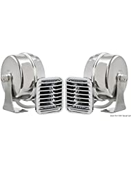Tromba ABS cromato doppia alta potenza English: Powerful ABS chromed double horn