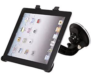 "iTALKonline Made To Measure Windscreen In Car Suction Mount Holder with FULL 360 Degrees Rotation For Apple iPad 2 (2011) 2nd generation iPad 3 ""The New iPad Retina Display"" (2012) 3rd Generation (Wi-Fi and Wi-Fi + 3G) 16GB 32GB 64GB"