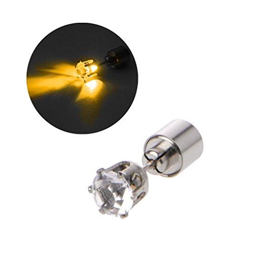 JUNESUN 9 Stile Halloween Christmas Shiny Diamond LED Farbwechsel Bolzenohrring Leuchten Blinkender Blinkohrring