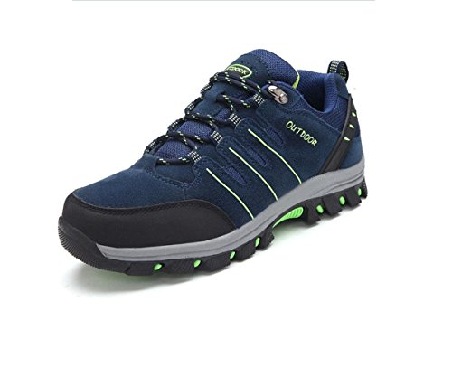 Chaussons d'escalade en plein air pour hommes en cuir outdoor chaussures de randonnée vêtements de plein air désodorisant deep blue