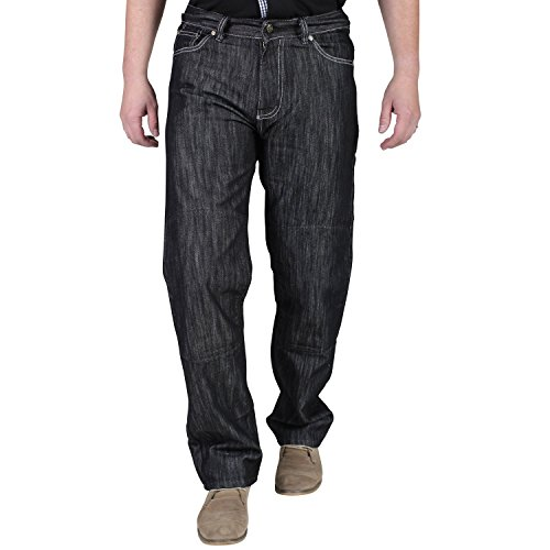 Juicy Trendz Men's Motorcycle Biker Jeans Trousers Reinforced Protection Lining include Armours