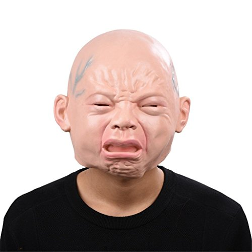Auspicious beginning Schrei Baby Latex Kopf Maske, Neuheit Kostüm Masken