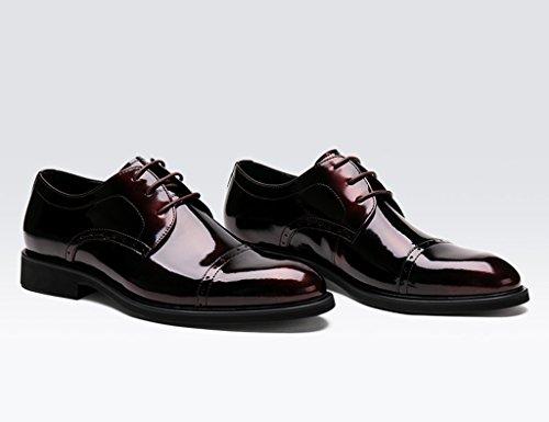 da Uomo Scarpe dimensioni 5 scarpe formale indossare da da sposa EU44 UK8 in uomo in Vino Rosso scarpe Scarpe da Colore lavoro in pizzo Pelle pelle rosso singole Vino Aqgxdq8
