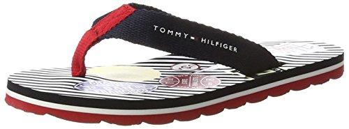 Tommy Hilfiger Jungen M3285ARLIN 8D Zehentrenner, Blau