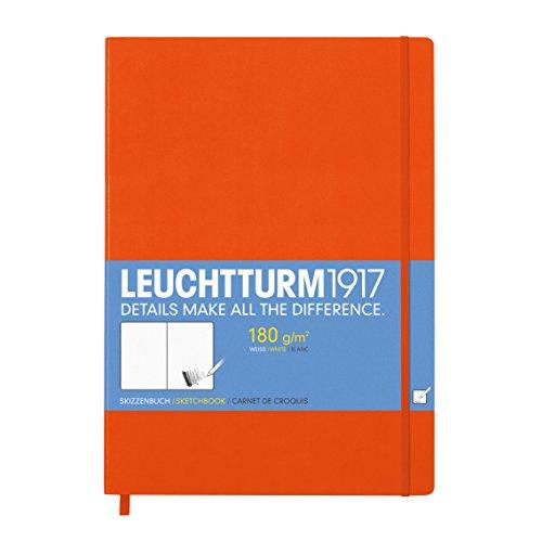 Leuchtturm1917 345004 Skizzenbuch Master (A4+, mit reinweißem, extra starkem 180 g/m² Papier, 96...
