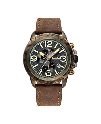 Timberland Reloj Cronógrafo para Hombre de Cuarzo con Correa en Cuero TBL.15474JSGN/02