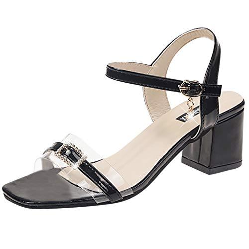 friendGG❤Mode Frauen Sommer Pumps High Heel Sandalen Eimer Peep Toe Sandalen Sommer Draussen Arbeit Freizeit BeiläUfig Hochschule Neu Damen Trend Edel Elegant Schuhe