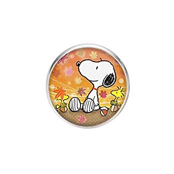 Edelstahl Brosche, Durchmesser 25mm, Stift 0,7mm, handgemachte Illustration Snoopy 3