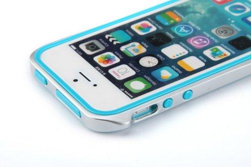 Aero 5 Alliage pare-chocs Téléphone portable étui cas pour Apple iPhone 5 / 5S - Nouveau Design de 2016 - Noir & Bleu Noir & Rose
