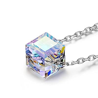 "NINASUN ""Beautiful Life"" 925 Sterling Silver Women Necklace Pendant Aurore Boreale Crystals from SWAROVSKI®"