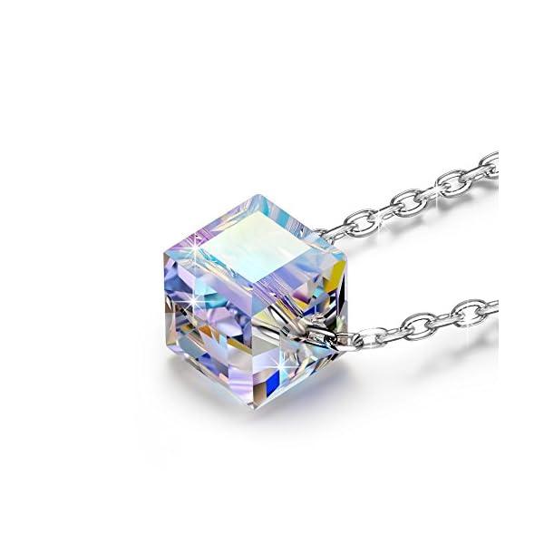 f174279d0a87 Alex Perry Regalos Navidad Mujer Collar Plata de ley 925 Cristales ...