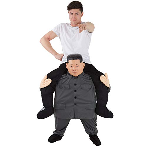 Piggy Back Kostüm - Morph MCPBKJ Mach es selbst Füllung Halloween Karneval Huckepack Kostüm, Kim Jong Un, Einheitsgröße