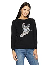 Pepe Jeans London Womens Cotton Sweatshirt (PILT200030_Black_X-Large)