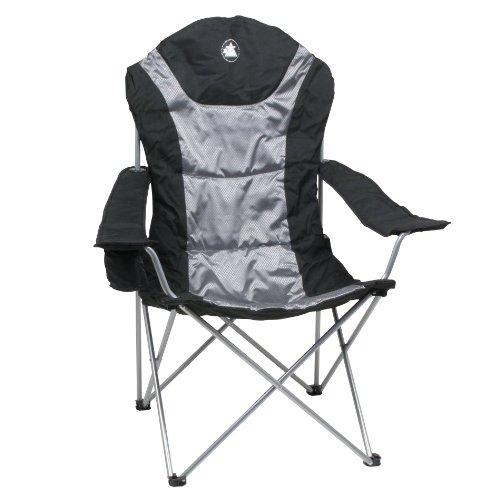 10T Lightboy - Faltbarer XXL Camping-Stuhl mobiler Hochlehner Maxi Polster-Sitzfläche Getränkehalter - 8