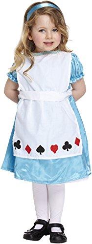 Alice im Wunderland Mädchen Kleinkinder Fancy Party Kleid Kostüm 2-4Jahre