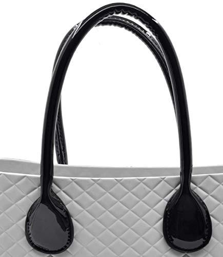 accessori o bag manici lunghi spalla mano manicotti per obag grande o mini  standard nero ... 0196635f71c