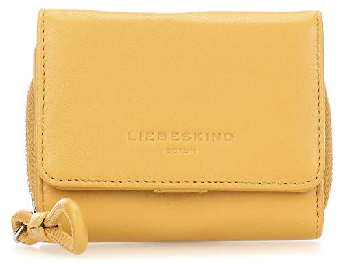 Liebeskind Berlin Damen Drawstring Pablita Wallet Medium Geldbörse, Gelb (Tawny Yellow), 3x9x12 cm -