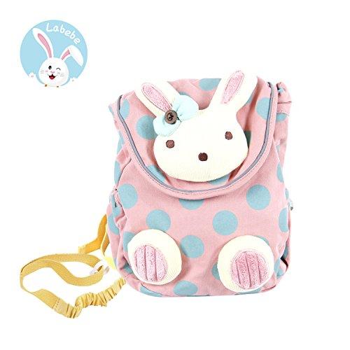 Baby-rucksäcke (Labebe Rucksack Kinder, Schultasche Pink Hase für Kleinkinder von 1 Jahrige und Mehr, Kinderrucksack Pink mit Sicherheitsleinen, Lassing Kinderrucksack Kindergarten/Schultasche Rucksack Madchen)