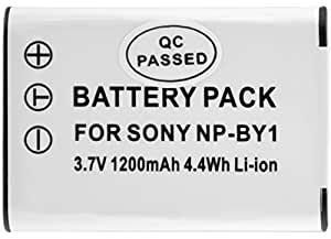 Xit XTNPBY1 1200mAh Lithium Ion Replacement Battery for Sony NP-BY (White)