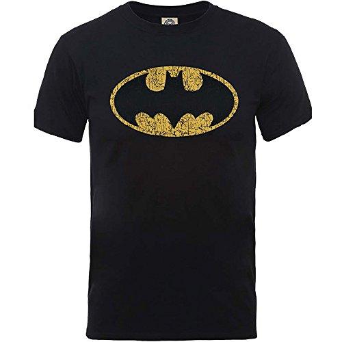 DC Comics Originals Batman Crackle negro Camiseta Oficial Con licencia Película