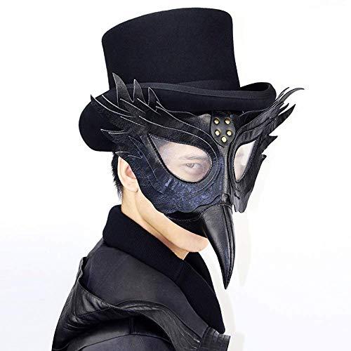 QWhing Festival-Maske Steampunk-Seuchen-Schnabel-Doktor Kostüm ()
