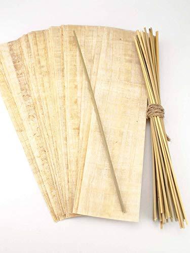 Forum Traiani Binsen Schreibset Klassensatz 30x Papyrus-Streifen und 30 Schreibbinsen aus Ägypten