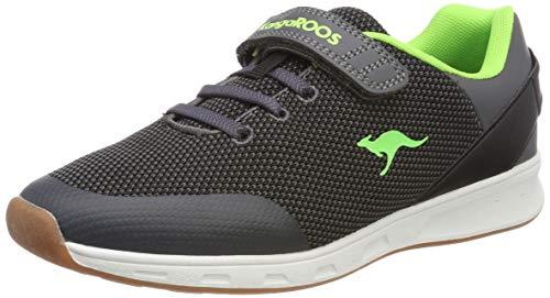 Kangaroos Leder-sneaker (KangaROOS Unisex-Kinder Roni EV Multisport Indoor Schuhe, Grau (Steel Grey/Lime 2014), 36 EU)