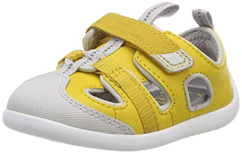Clarks Jungen Play Bright T Sneaker, Gelb (Yellow Synthetic), 25 EU