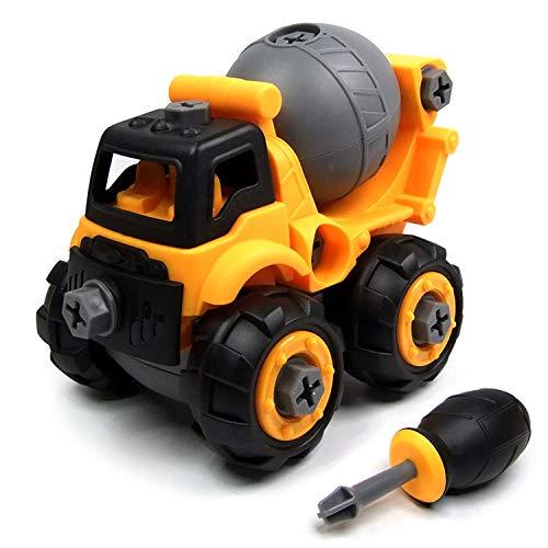 Ucradle Montage Spielzeug mit Schraubenzieher, Super Spaß beim Zusammenbauen und Schrauben, Ideal Lernspielzeug für Kinder Mädchen Jungen im Alter von 3, 4, 5, 6 (Betonmischer) (Spielzeug-betonmischer Für Jungen)