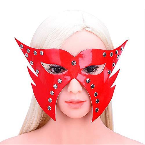 Maskerade Maske Kostüm Party Halloween Sexy Augenmaske Adult Supplies Sexspielzeug Alternative Toy Lackleder Maske