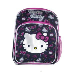 Mini Size Black and Pink Face Hello Kitty Backpack - Hello Kitty School Bags by Hello Kitty -