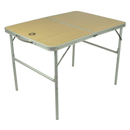 10T Portable Double Alu Campingtisch 98x70cm Klappkoffertisch mit stabiler MDF Platte bis 40kg belastbar Gartentisch Beistelltisch Picknick Falttisch mit Tragegriff und Klappsicherung (Klapptisch Portable)
