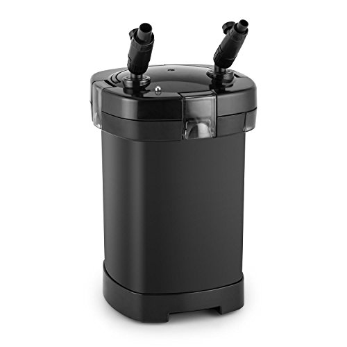 DURAMAXX Clearflow-14 Aquarium 4-Stufen-Filter Außenfilter Aquarien Wasserfilter für bis 400 Liter (16W Pumpe, 1000 l/h, 4-fach-Filter) schwarz