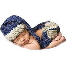 350bfd699944 iEFiEL Adorable Tenue Tricoté pour les Nouveau-né Bébé Garçon Costume  Gentleman (Pantalons +