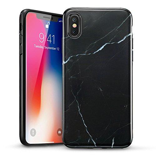ESR Coque pour iPhone X, Coque Silicone Motif Marbre, Housse Etui de...
