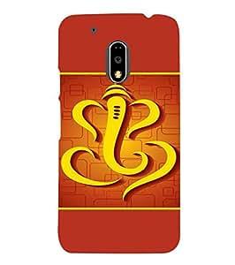 Fuson Designer Phone Back Case Cover Moto G Play (4th Gen) :: Motorola Moto G4 Play ( Symbolic Art Of Lord Ganesha )