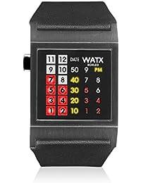 Watx RWA0854 - Reloj con correa de cuero para hombre, color negro / gris