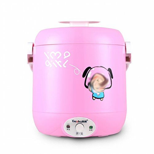 EGC Mini-Reiskocher 1-2 Personen Hausküche Reiskocher Kleiner Reiskocher,Rosa
