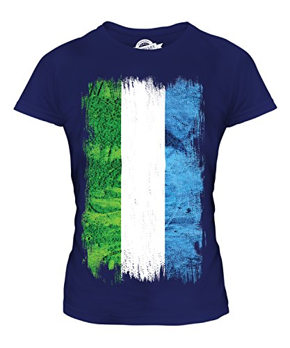 Candymix - Sierra Leone Grunge Flag - Ladies Fitted T Shirt Top T-Shirt