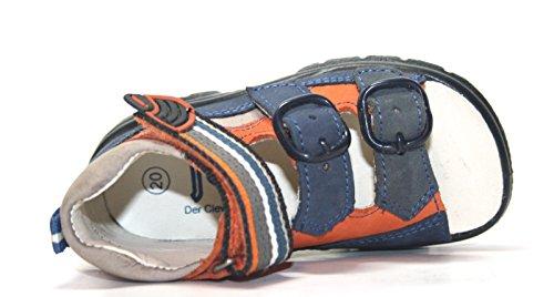 Jela 51017–39 enfants sandales chaussures d'été bleu bleu/orange (eU 20) Bleu - Bleu/orange